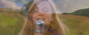 Close up singing